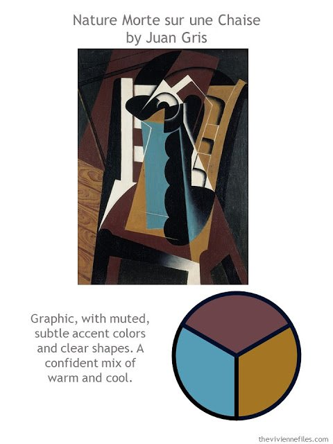 Nature Morte sur une Chaise by Juan Gris with style guidelines and color palette
