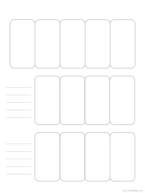 13-piece wardrobe template with room for notes
