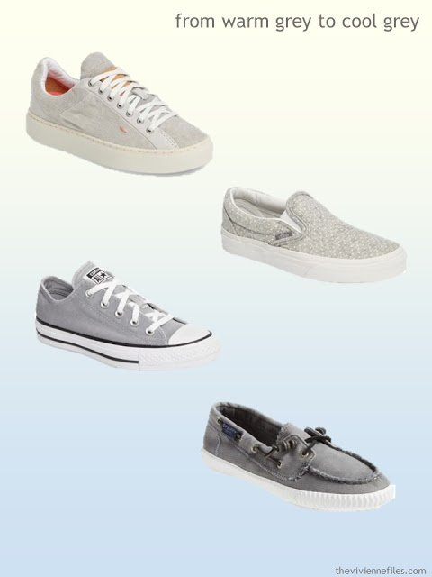 grey canvas shoes from warm grey to cool grey