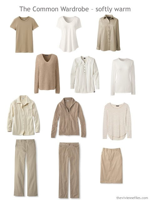 A Common Wardrobe in soft, warm colors