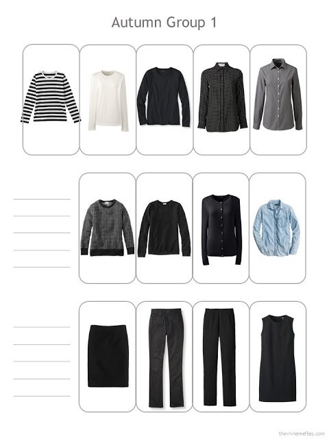the first 13 pieces of my wardrobe for October 2017