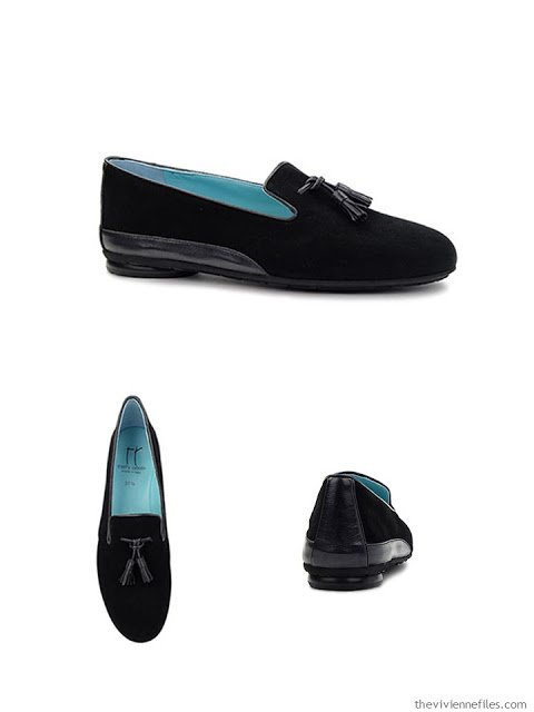 Thierry Rabotin Gilbert black suede loafers from Hanig's Footwear Chicago