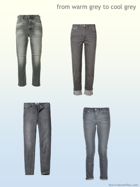 grey jeans from warm grey to cool grey