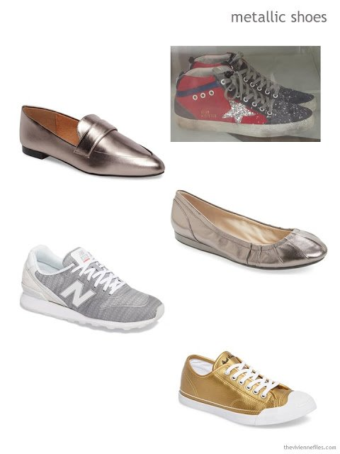 metallic shoes