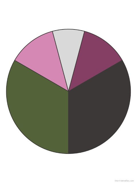 true olive, charcoal grey, rose pink, soft grey, and muted burgundy