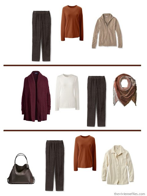 new outfits from adding a French 5-Piece Wardrobe to A Common Wardrobe in soft, warm colors