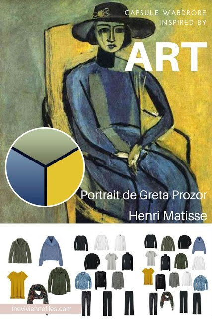 "How do you Choose a ""French 5-Piece Wardrobe?"" Start with Art: Portrait de Greta Prozor by Henri Matisse"
