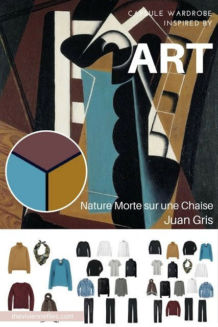 "Start with Art: A ""French 5-Piece Wardrobe"" Based on Nature Morte sur une Chaise by Juan Gris"