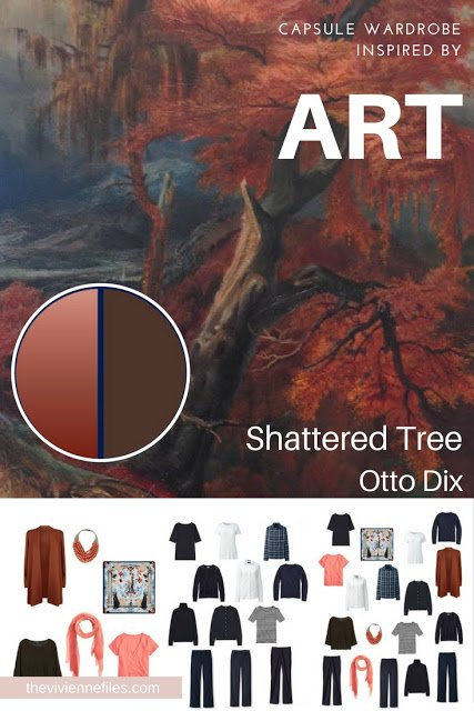 Updating a Navy Wardrobe for Autumn - Start with Art: Shattered Tree by Otto Dix