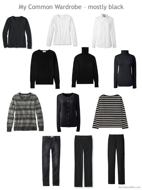 A Common Wardrobe in black and white for cold weather