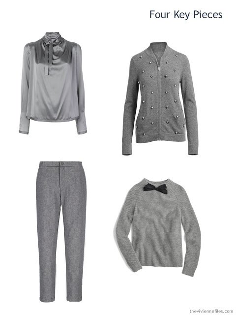 Four Key Pieces for the winter holidays, in grey