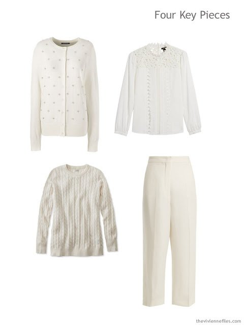 Four Key Pieces in winter white for the winter holidays