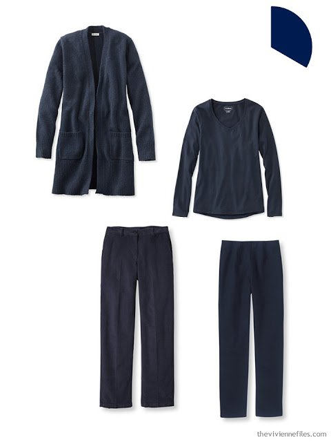a Core of Four garments in navy, for cool weather
