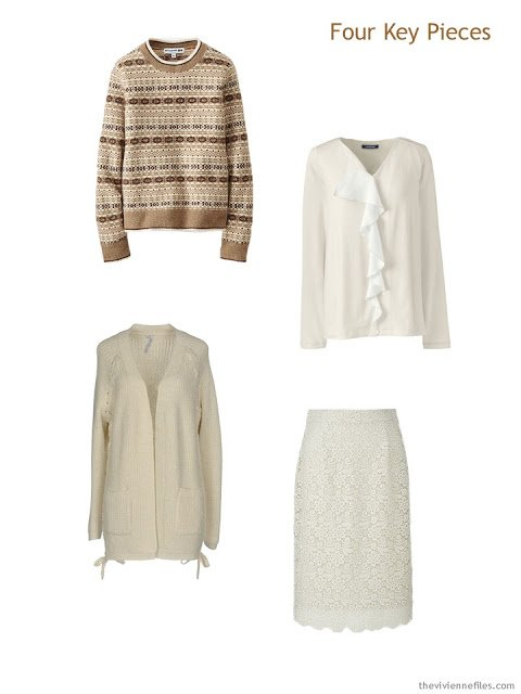 Four Key Pieces in caramel beige and ivory