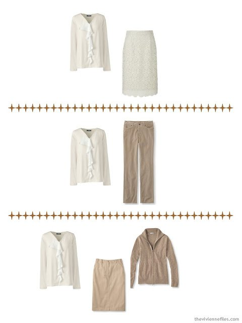 how a ruffle on a blouse dresses up anything