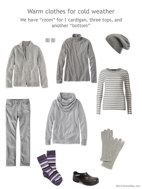 wardrobe cluster in grey for cool weather