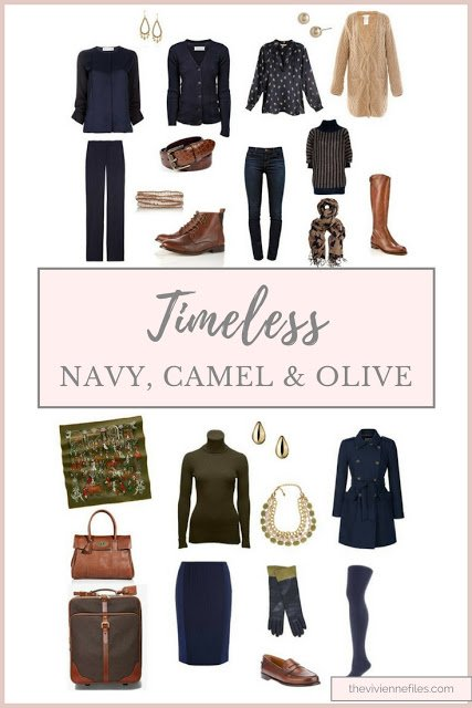 Navy, Camel and Olive truly can be timeless...