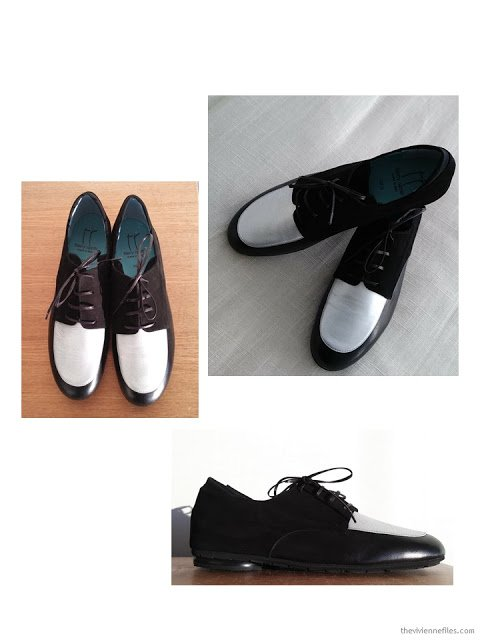 my 1 of a kind black and silver Thierry Rabotin oxfords