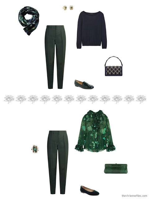 2 ways to wear a pair of green pants
