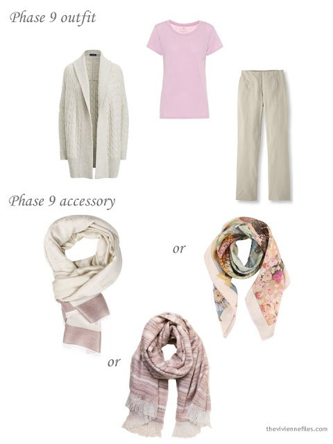 adding a scarf to a 4 by 4 Wardrobe
