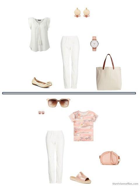 2 ways to wear bone denim pants from a 6-Pack Wardrobe