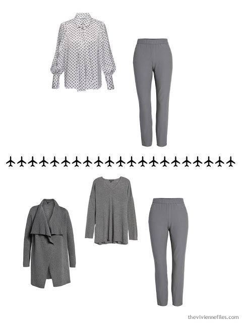 2 ways to wear a pair of grey pants
