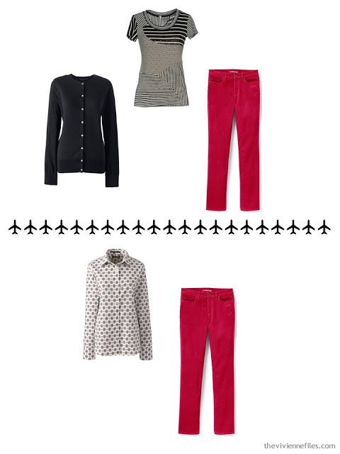2 ways to wear red corduroy pants