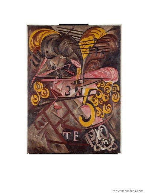 Dame au Chapeau by Natalia S. Gontcharova