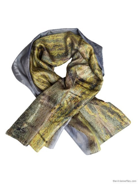March at Tacloban Silk Story Scarf by ImageDiary