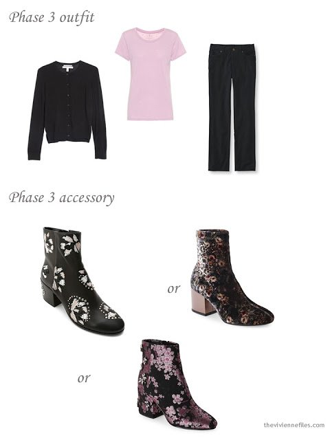 adding floral boots to a 4 by 4 Wardrobe