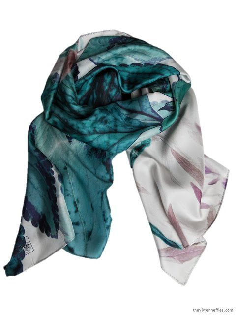 Inside the Green Silk Story Scarf by ImageDiary