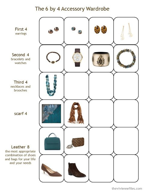 Second Stage in a 6 by 4 Accessory Wardrobe