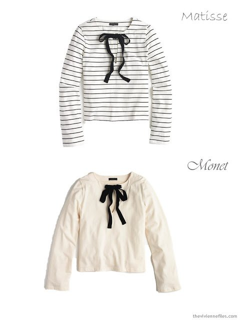 2 velvet-tied tops from J.Crew