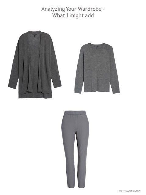 3 garments to add to a capsule wardrobe in black, grey, white and rust
