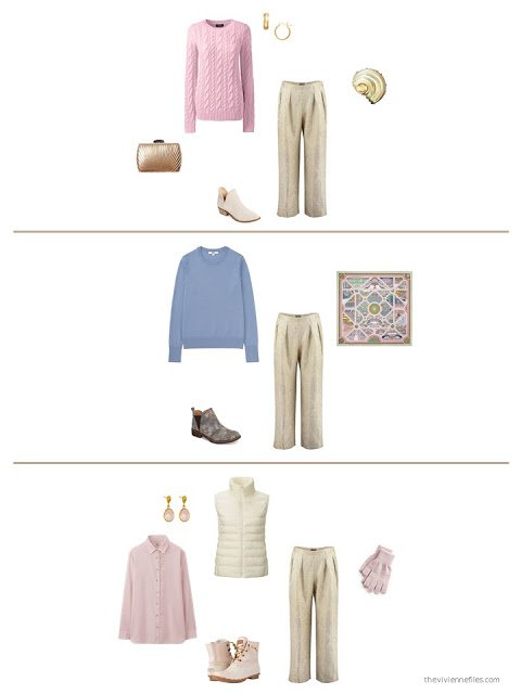 3 ways to wear gold brocade trousers