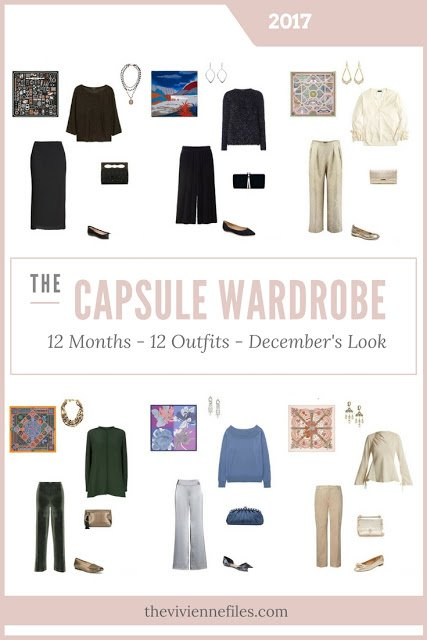 Build a Capsule Wardrobe in 12 Months, 12 Outfits – December 2017