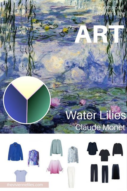 "Can You Build a Casual Wardrobe from a ""Dressy"" Work of Art? Water Lilies by Monet"