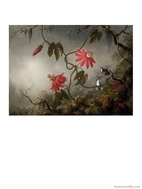 Passion Flower with Hummingbirds by Martin Johnson Heade