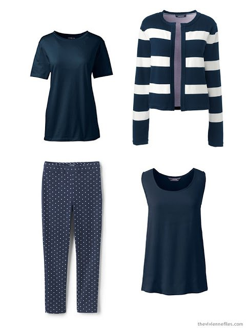 Navy wardrobe capsule for spring