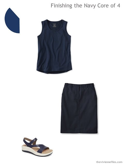 2 navy garments to add to a 4 by 4 Travel Wardrobe