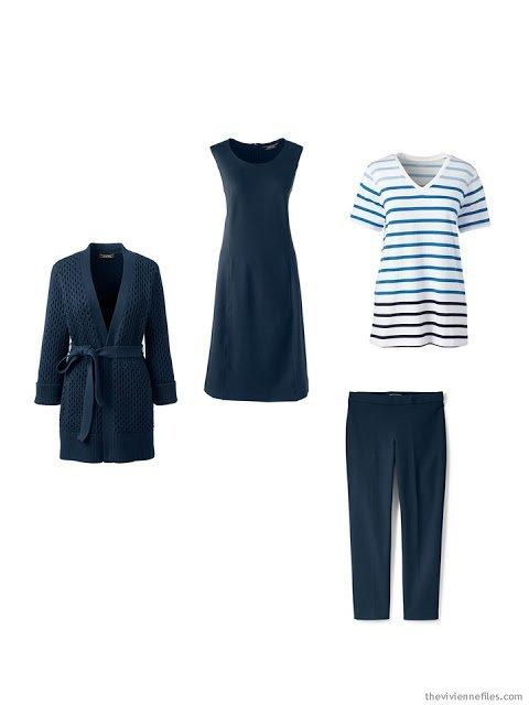 navy spring wardrobe cluster