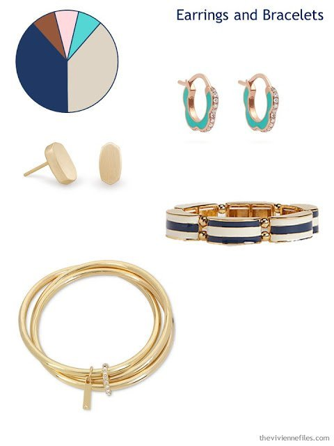 adding earrings and bracelets to a 6 by 4 Accessory Wardrobe