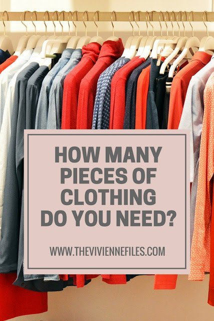 How Many Pieces of Clothing Do You Need? A New Year's Thought…