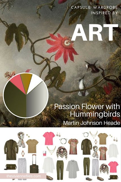 Passion Flower with Hummingbirds by Martin Johnson Heade - Inspiring a Tote Bag Travel Capsule Wardrobe