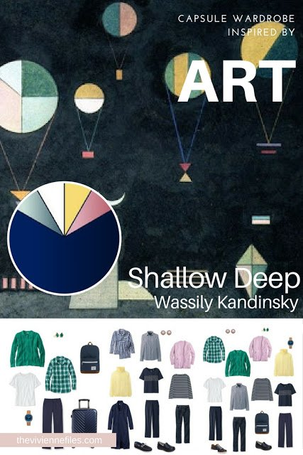 Shallow Deep by Wassily Kandinsky - Start with Art for a Travel Capsule Wardrobe