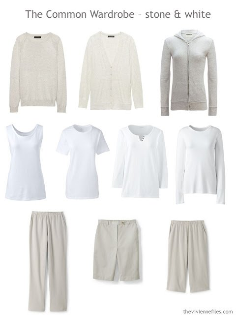 A Common Wardrobe in stone beige and white for spring