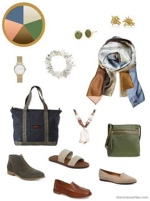 An Accessory Color Palette with a dozen essential accessories