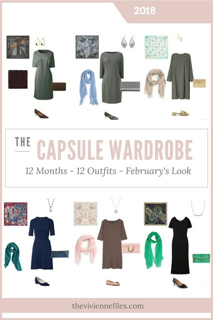 Build a Capsule Wardrobe in 12 Months, 12 Outfits - February 2018