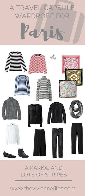 Paris Packing – A Parka, and Lots of Stripes