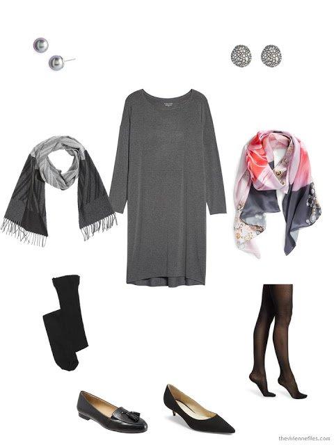 2 ways to wear a classic grey dress